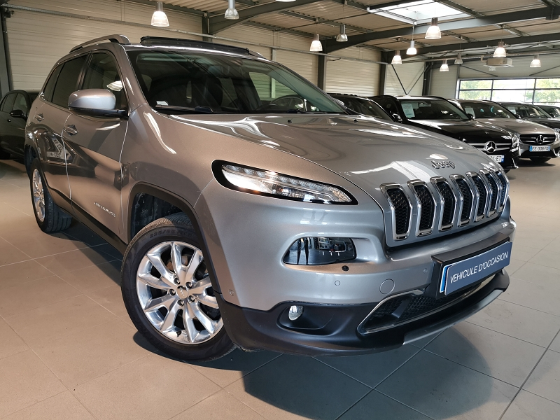 Jeep CHEROKEE 2.2 MULTIJET 200CH LIMITED ACTIVE DRIVE I BVA S/S Diesel GRIS F Occasion à vendre